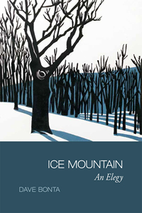 Cover of Ice Mountain with a linocut of a big ridgetop tree.